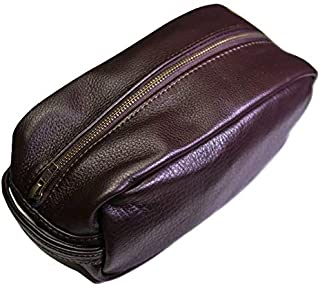 Wilt 1862 Navy Peary Leather Dopp Kit Travel Organizer