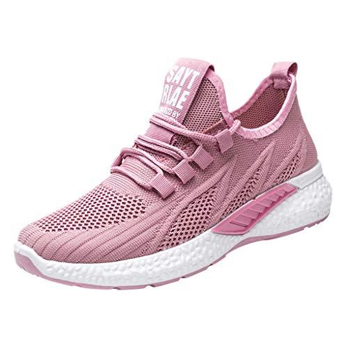 Zapatos Deporte Mujer Zapatillas Deportivas Hombre Correr Gimnasio Casual Zapatos para Caminar Mesh Running Transpirable Aumentar Más Altos Sneakers 0204
