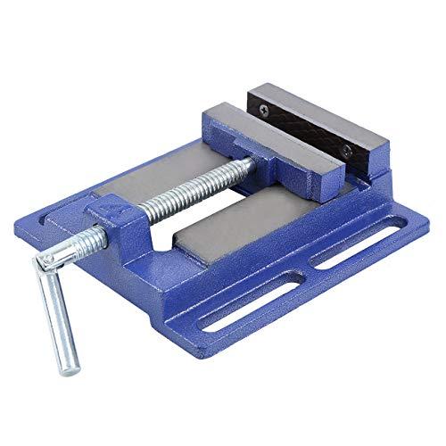 Yonntech Bohrmaschinen-Schraubstock, robust, 100 mm, für Holzbearbeitung, Maschinenschraubstock für Säulenbohrer/Handklemme