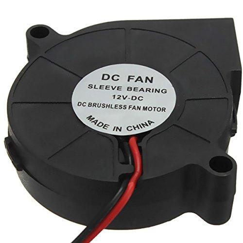 ILS - 3 Piezas de la Impresora 3D de 12 V DC 50 mm * 50 mm Radial Blow Ventilador de refrigeración