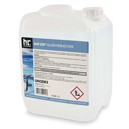 Höfer Chemie 5 L Pool Algenvernichter - Anti Algenmittel für Schwimmbad & Pool - gegen Algen
