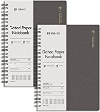 EMSHOI Dotted Notebook Spiral 2 Pack, 320 Pages B5 Dot Grid Journal, with Free Journal Stencils, Waterproof Hardcover, 100GSM Thick Paper, 7.48