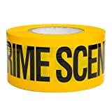 Crime Scene Do Not Cross Barricade Tape 3 inch X 1000 feet • Bright Yellow with a bold Black Print for High Visibility • 3 in. wide for Maximum Readability • Tear Resistant Design