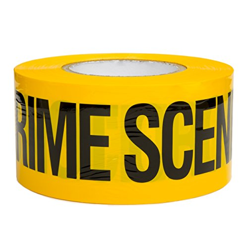 Crime Scene Do Not Cross Barricade Tape 3 inch X 1000 feet • Halloween Decoration Party Tape • Bright Yellow with a Bold Black Print • 3 in. Wide for Maximum Readability • Tear Resistant Design