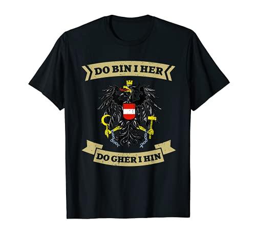 Österreich Flagge T-Shirt Wappen Adler Österreicher Geschenk