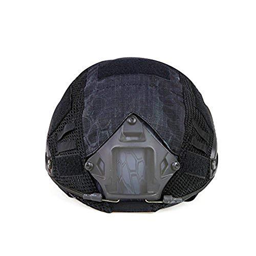 ATAIRSOFT Airsoft Tactical Helmet Cover para PJ/BJ/MH Tipo Casco rápido con Bolsa Trasera (TYP)