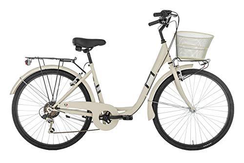 "Alpina Bike Venere, Bicicletta Donna, Panna, 26"""