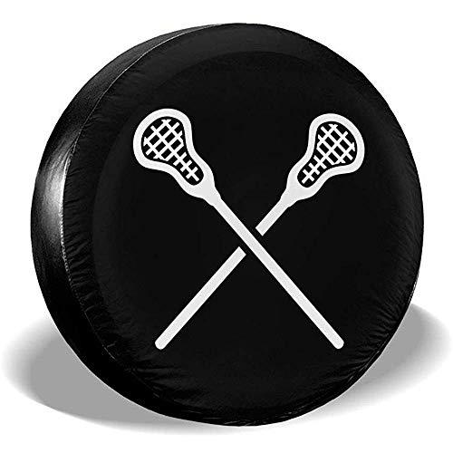 ETGeed Lacrosse Sticks Crossed Universal Fit Cubiertas de neumáticos Cubierta de neumático de Repuesto a Prueba de Polvo a Prueba de Agua