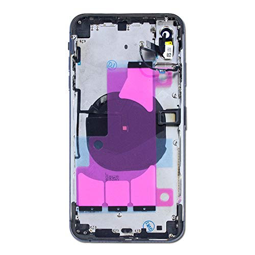 """Group Vertical Replacement Back Glass Midframe Housing Full Assembly Compatible with Apple iPhone Xs Max (A1921, A2101, A2102, A2104) (6.5"""") (Black)"""