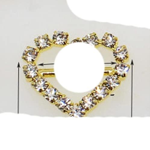 ¡Alta calidad!10 Uds.Hebilla deslizante de cinta de invitación de diamantes de imitación dorada para cintas, suministro de boda, envoltura de regalo, lazo para el cabello, centro-n. ° 10