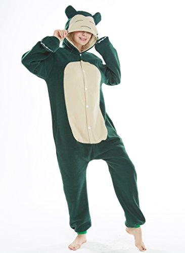 Animal Cosplay Disfraces Onesies Pijama Halloween Fiesta Unisex-Adulto Ropa de Dormir Kigurumi Mascarada Snorlax S