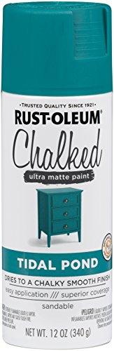 Rust-Oleum 302597 Series Chalked Ultra Matte Spray Paint, 12 oz, Tidal Pond