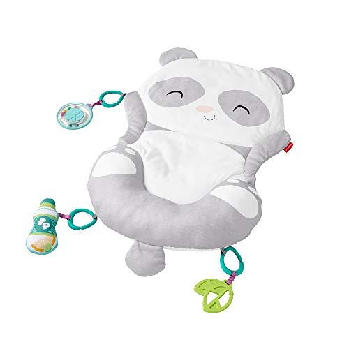 Fisher-Price GJD28 - Panda Spielmatte, Plüschmatte zum Spielen in der Bauchlage mit Spielzeugen, Babyausstattung ab der Geburt