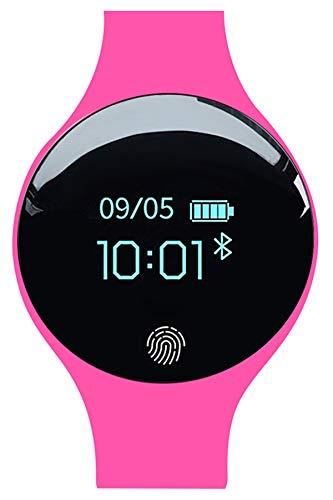 Fitness-Tracker, Schrittzähler, Kalorienzähler, Bluetooth, Anruferinnerung, Sportuhr für Kinder, Herren und Frauen Outdoor Fitnessschuhe Rose