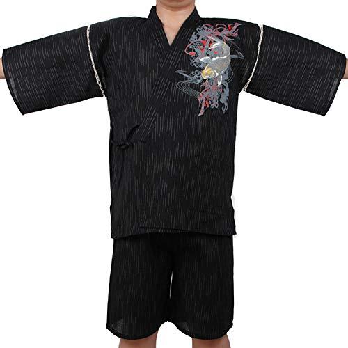 Fancy Pumpkin [C01] Bata de Estilo Japonés para Hombre Kimono Pijama Tamaño XL