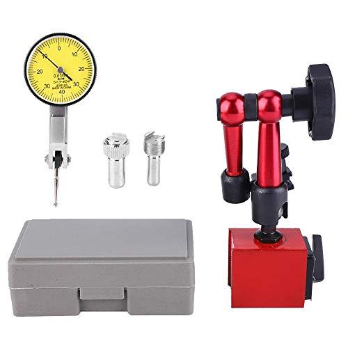 Meetklok, 0,001mm/0,00005 inch hoge resolutie meetklok, meetbereik 0~0,8 mm digitale medstoster voor laboratorium, werkplaats en 3D-printer, met magnetisch meetapparaat standvoet houder