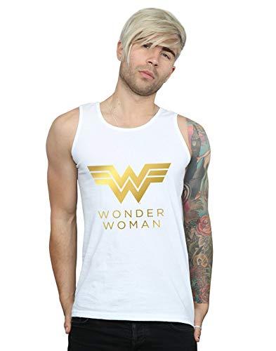Wonder Woman Gold Logo Vest Top for Men