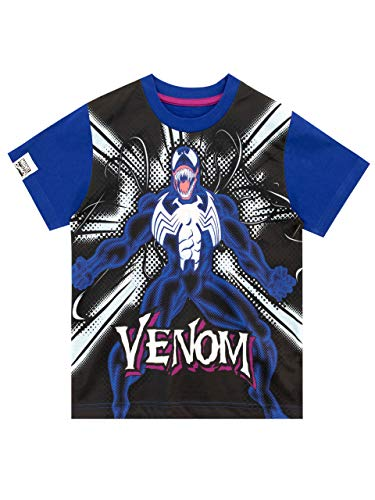 MARVEL Boys Venom T-Shirt Black Age 7 to 8 Years