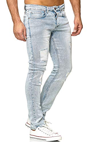 Tazzio Herren Jeans im Destroyed Look 16525 hellblau 32/30
