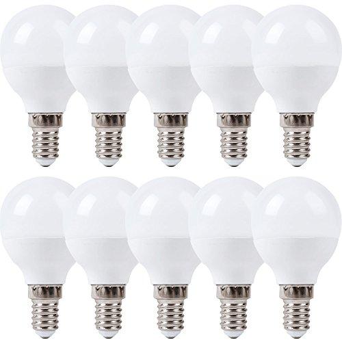 10 x LED Leuchtmittel Tropfen 4W = 30W / 25W E14 matt 320lm Kugel warmweiß 2700K