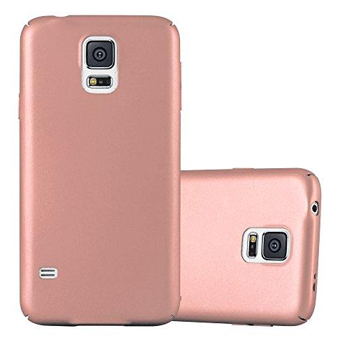 Cadorabo Hülle für Samsung Galaxy S5 / S5 NEO - Hülle in Metall Rose Gold – Hardcase Handyhülle im Matt Metal Design - Schutzhülle Bumper Back Case Cover