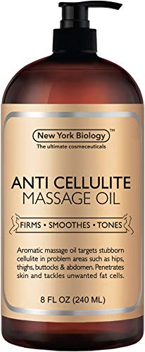 New York Biology Anti Cellulite Treatment Massage Oil - All Natural Ingredients - Penetrates Skin 6X...