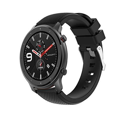 Correa Pulsera Compatible Con 47MM Banda De Silicona/Ajustable Para Smartwatch Reemplazo De Correa Saisiyiky (Nergo)