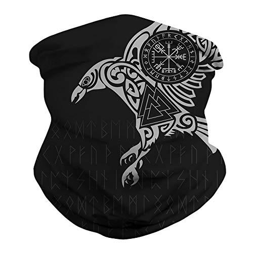 JooMeryer Seamless Bandanas Balaclava Face Mask Neck Gaiter Viking Print for Men Women,Viking
