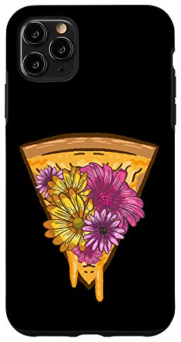 iPhone 11 Pro Max Pizza Flower Toppings Funny Snack Cheesy Food Lovers Gift Case