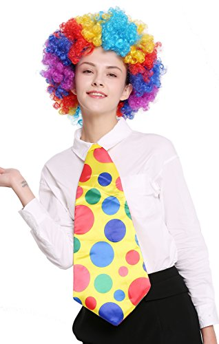 dressmeup Dress ME UP - BB-043-clown Corbata Enorme Amarilla Lunares variopintos Payaso Circo Carnaval