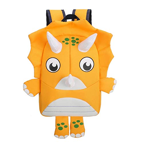 \t Kids Dinosaur Backpack For Girls Boys,Kindergarten School Back Bags Cute Outdoor Daypack yellow