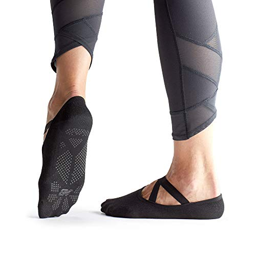 New Balance Yoga Socks for Women/Men - Non Slip Barre Socks with Grips/Straps   Sticky Gripper Exercise Fitness Sock Shoes for Yoga, Barre, Pilates, Ballet, Dance, Workout, Home, Casual, Hospital