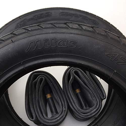 2x Mitas V41 Walrus 10 Zoll Reifen 10x1.75x2 Zoll | 47-152 + AV Schlauch (gerades Ventil) Kinderwagen, Buggy, Roller, Dreirad