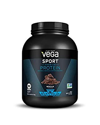Vega Sport Protein Powder Mocha (45 Servings, 67.9 Ounce) - Plant Based Vegan Protein Powder, BCAAs, Amino Acids
