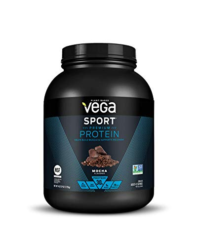 Vega Sport Protein Powder Mocha (45 Servings, 67.9 Ounce) -  Plant Based Vegan Protein Powder, BCAAs, Amino Acids, Tart Cherry, Non Dairy, Keto-Friendly, Gluten Free,  Non GMO (Packaging May Vary)
