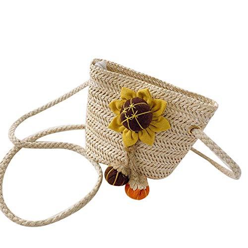 Bolsos de los niños Moda tejida girasol Accesorios monedero para regalos
