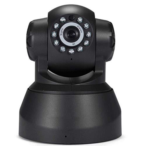 Lamp love Webcam 1 UNIDS HD Cámara de Seguridad IP para Casa WiFi Cámara de Vigilancia CCTV con Visión Nocturna Inalámbrica con Ranura TF Voz de Dos vías Equipo De Monitoreo (Color : Black)