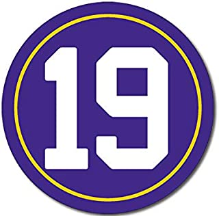 American Vinyl Round #19 Adam Thielen Sticker (Player Vikings Number Minnesota)
