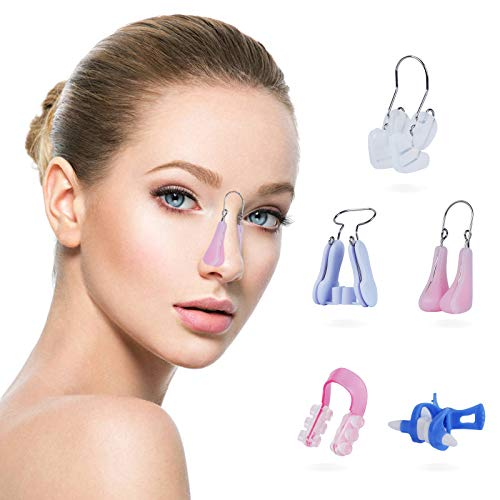 5 Pieces Nose Shaper Lifter Clips Nose Beauty Up Lifting, Pain Free Nose Slimmer Nose Bridge Straightener Corrector, Soft Safety Silicone Nose shaper Nose Lifter Tools for Women Girls