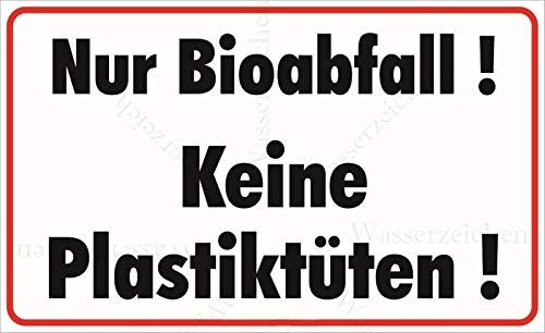 Sticker-Designs 45cm! Aufkleber-Folie Wetterfest Made IN Germany Bio Abfall Keine Plastiktüten Plastik S807 UV&Waschanlagenfest-Auto-Vinyl-Sticker Decal Profi Qualität DigitalSchnitt