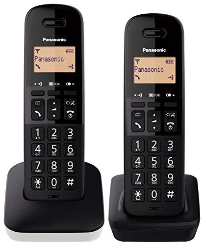 Panasonic KX-TGB612 - Teléfono Fijo inalámbrico dúo, Bloqueo de Llamadas, 18 Horas de conversación, 200 Horas en Espera, Agenda 50 Contactos, Resistencia a caídas, Color Blanco