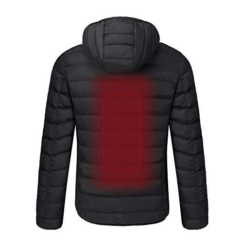 Lixada Electric Heated Jacket,Winter Windproof Flexible Electric Thermal USB Charging,3 Temp Setting Heating,Insulated Electric Heating Coat for Men& Women Camping...