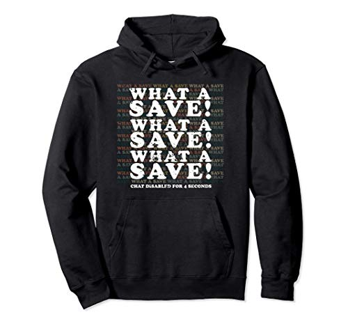 What A Save Chat Disabled Vintage Retro Rocket Soccer Pullover Hoodie