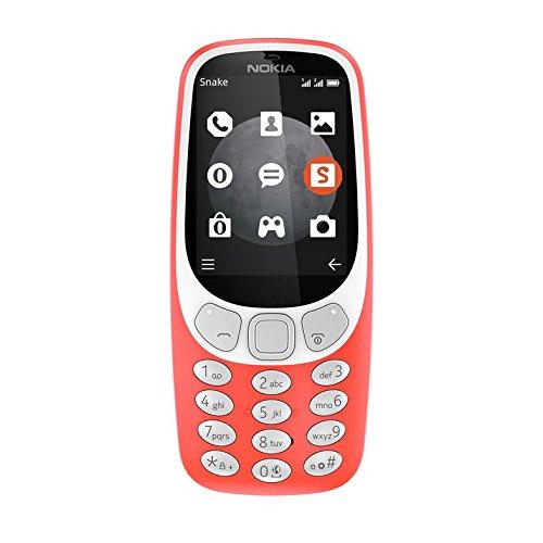 Nokia 3310 - Téléphone portable débloqué 3G (Ecran 2,4 pouces, ROM 32Go, Double SIM Appareil photo 2MP) Rouge