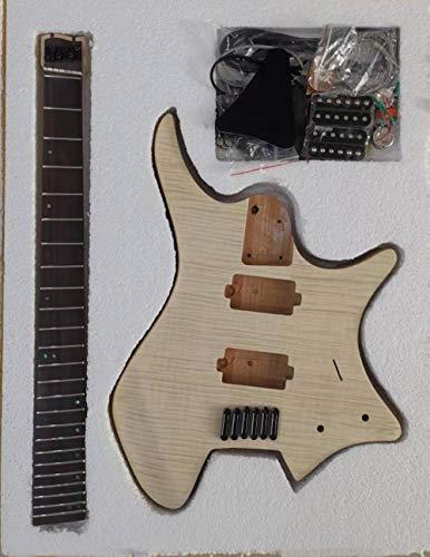 SYXMSM Mountain Headless Guitar Semi-Finish-Gitarre-gefächerte Fret-Alder-Körper 5 Stück-Hals