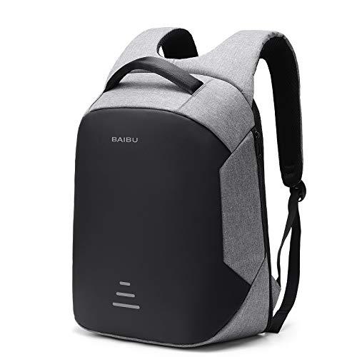 Mochila para ordenador portátil, antirrobo, para viajes de negocios, con puerto de carga USB, bolsa grande y ligera para colegio