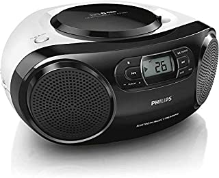 Philips Audio Philips Portable Micro Hi-Fi Music Sound System, CD Player, MP3-CD, CD and CD-R/RW, Dynamic Mega Bass Stereo...