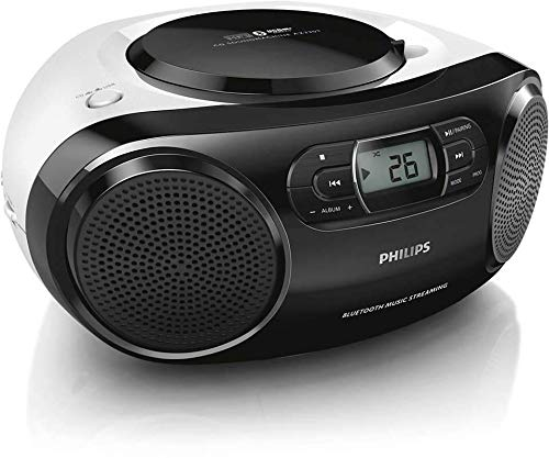 Philips Portable Micro Hi-Fi Music Sound System, CD Player, MP3-CD, CD and CD-R/RW, Dynamic Mega Bass Stereo Boost Speaker, USB Direct Input, and FM Radio, Compact Design,…