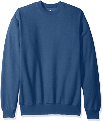 Hanes Men's EcoSmart Fleece Sweatshirt, Denim Blue, Large