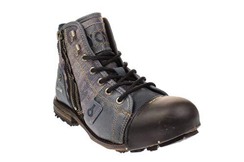 Yellow Cab Herrenschuhe - Boots Industrial 15458 - Blue, Größe:45 EU